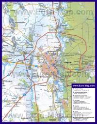 Автомобильная карта дорог Тамбова