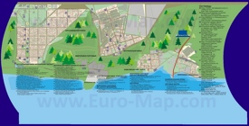 Туристическая карта Тольятти с отелями, достопримечательностями и ресторанами