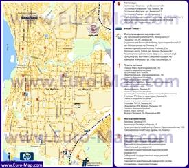 Туристическая карта Томска