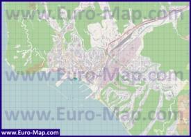Подробная карта города Туапсе