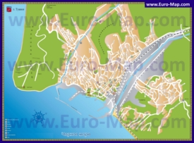 Туристическая карта Туапсе