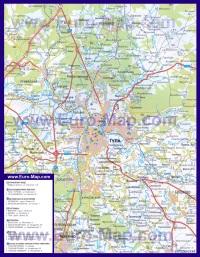 Автомобильная карта дорог Тулы
