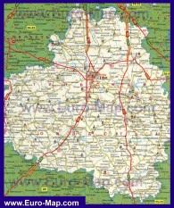 Карта Тулы и Тульской области