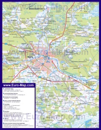 Автомобильная карта дорог Твери