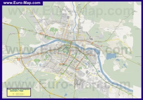 Карта Твери с маршрутами транспорта