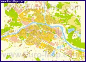 Подробная карта города Тверь