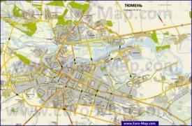 Подробная карта города Тюмень