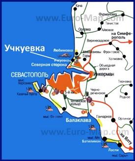 Карта Учкуевки с окрестностями