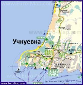 Подробная туристическая карта Учкуевки