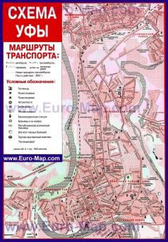 Карта маршрутов транспорта Уфы