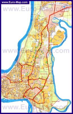 Подробная карта города Уфа