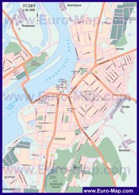Автомобильная карта дорог Углича