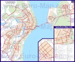 Автомобильная карта дорог Ульяновска