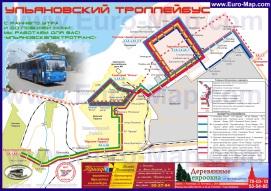 Карта маршрутов транспорта Ульяновска
