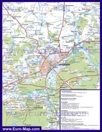 Автомобильная карта дорог Владимира