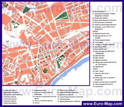 Карта Владимира с достопримечательностями
