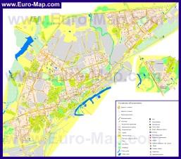 Подробная карта города Владимир