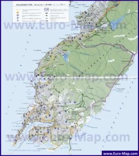 Карта Владивостока с окрестностями