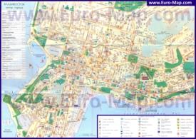 Подробная туристическая карта города Владивосток