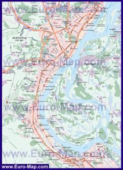 Карта дорог Волгограда