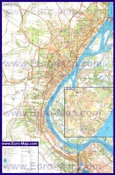 Подробная карта города Волгоград