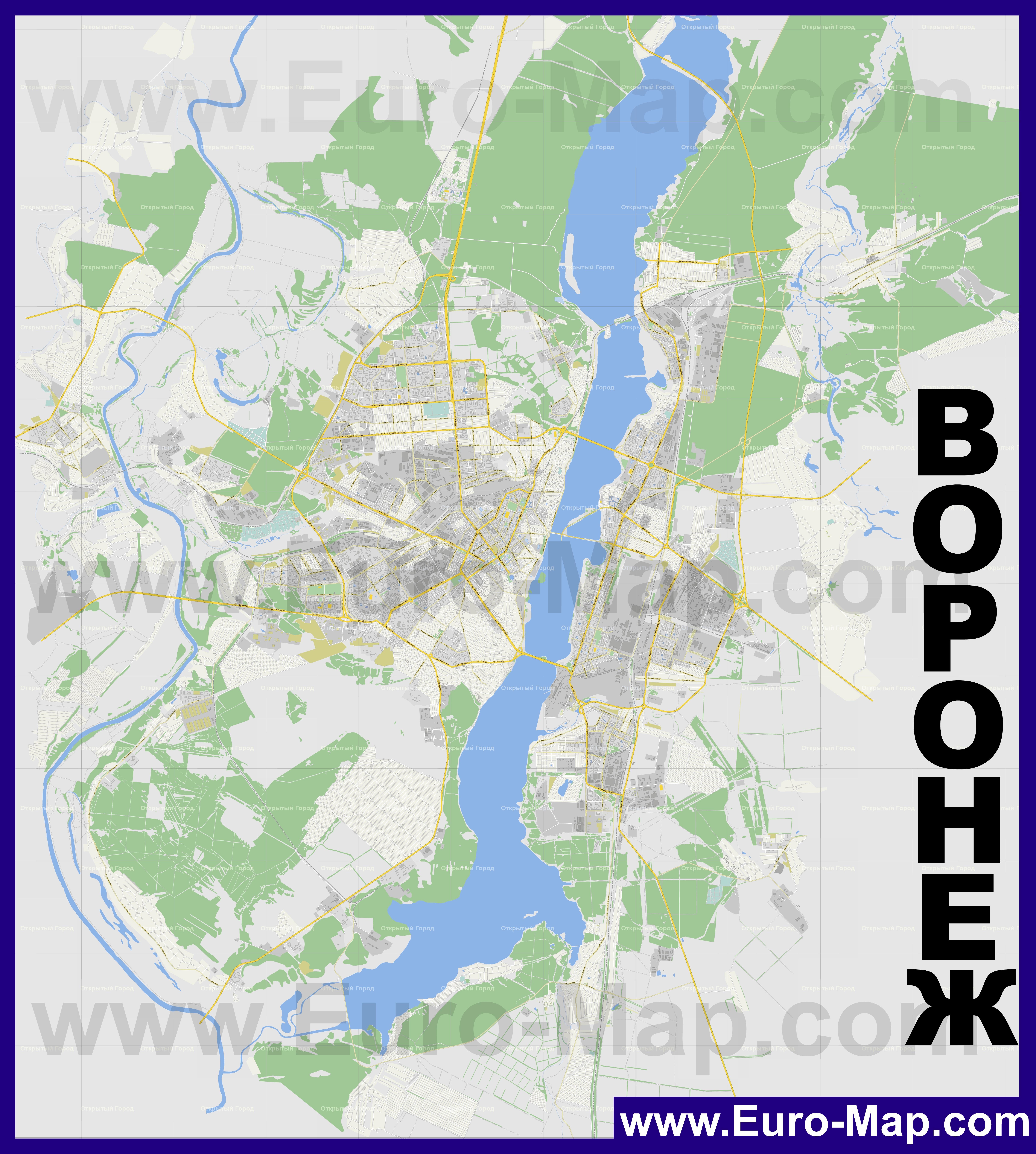 Карта Воронежа подробная с улицами, номерами домов и ...