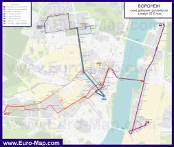 Схема маршрутов троллейбусов Воронежа