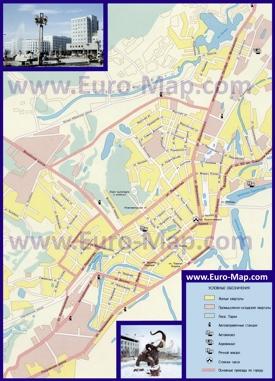 Автомобильная карта дорог Якутска