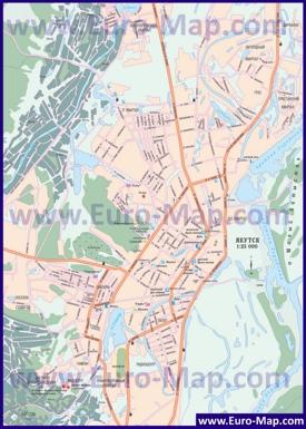 Подробная карта города Якутск