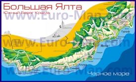 Карта побережья большой Ялты