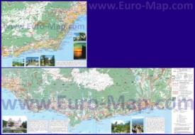 Подробная карта большой Ялты