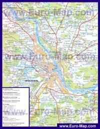 Автомобильная карта дорог Ярославля