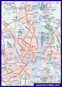Подробная карта города Ярославль