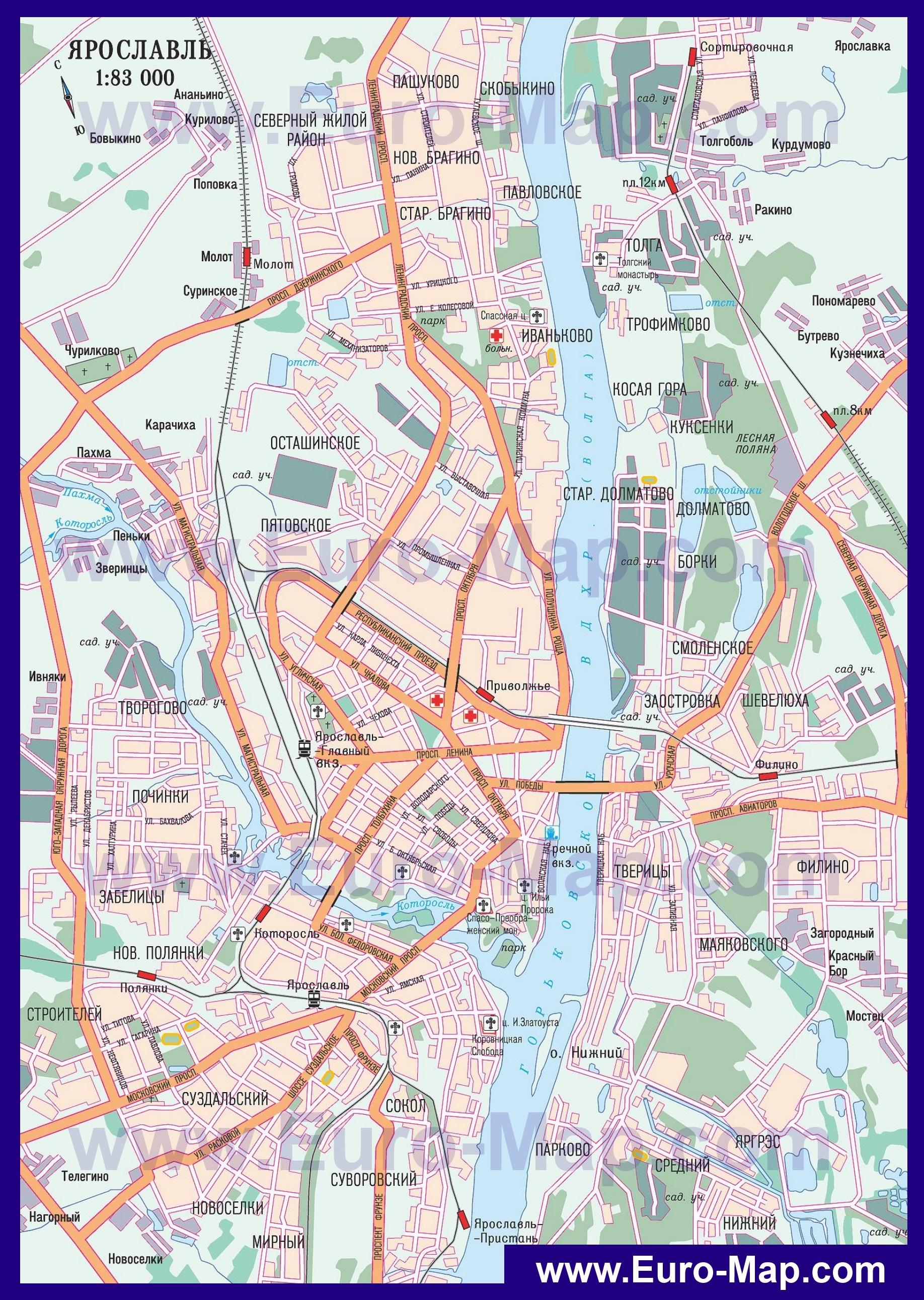 Карту Владимирской Области