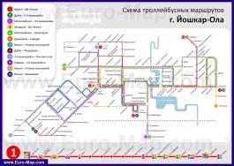 Карта маршрутов транспорта Йошкар-Олы