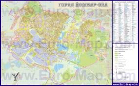 Подробная карта города Йошкар-Ола