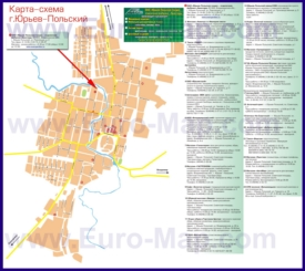 Карта города Юрьев-Польский
