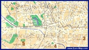 Подробная карта Бухареста