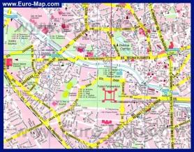 Туристическая карта Бухареста с достопримечательностями