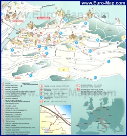 Карта города Сан-Марино