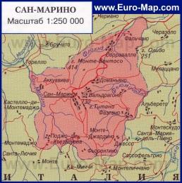 Карта Сан-Марино на русском языке