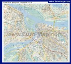 Подробная карта Белграда