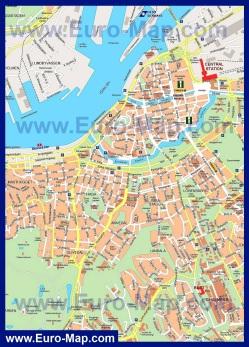 Подробная карта Гётеборга