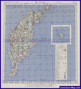 Подробная карта острова Готланд