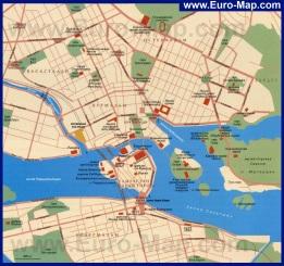 Карта Стокгольма на русском языке