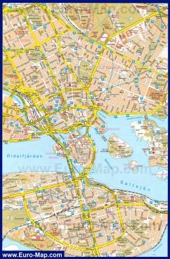 Туристическая карта города Стокгольм
