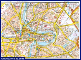 Подробная карта Берна