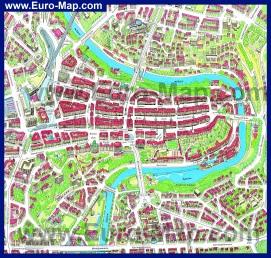 Туристическая карта города Берн