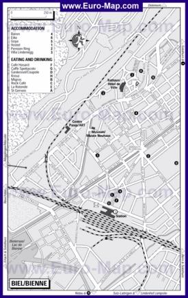 Карта отелей Биля