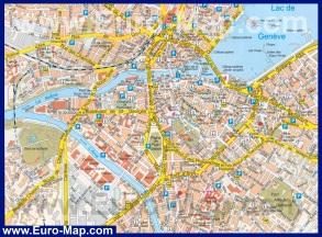 Подробная карта Женевы (Швейцария)